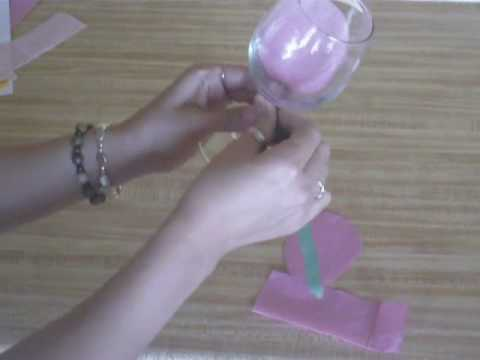 Flower Wine Glass Party Favor Youtube