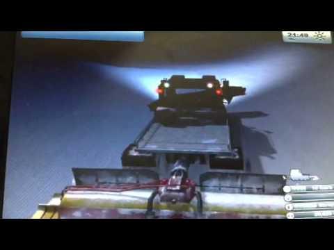 Ski region simulator game play
