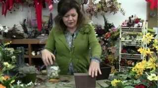 Easter Flower Arrangements | Easter Table Decorations using Silk Flowers Arrangement 1
