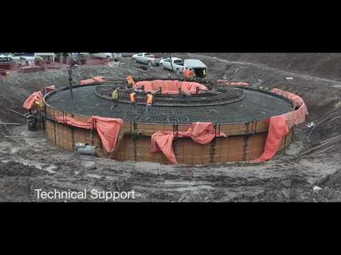 Large Concrete Wind Turbines:  Niagara Region Wind Farm Project