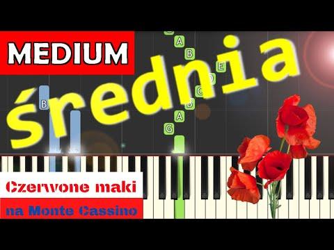 🎹 Czerwone Maki na Monte Cassino - Piano Tutorial (średnia wersja) 🎹