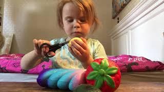Åbner Squishy pakke med min lillesøster