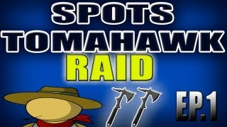 BO2 RAID SPOTS TOMAHAWK ACROSS THE MAP DOMINO EP1