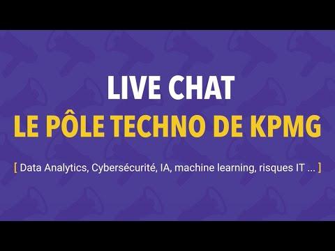 Live Chat | Intégrez le pôle Techno de KPMG - Data Analytics, Cybersécurité, IA, IT Risk, ...