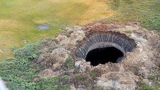Video: Obtienen imágenes del interior del gran cráter siberiano que asombra a la ciencia