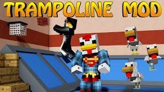 Minecraft | Trampoline Mod Showcase! (Boost Blocks, Bouncing Blocks Mod)