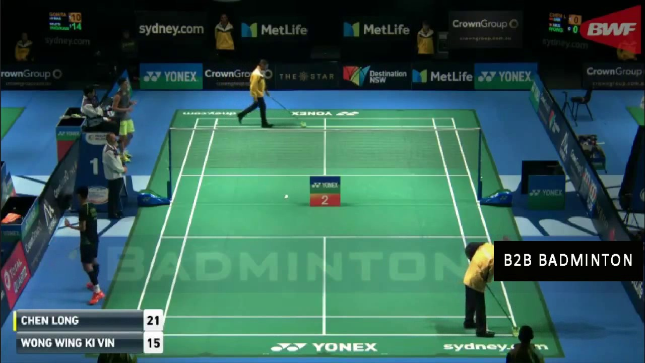 Chen Long vs Wong Wing Ki Vincent Badminton 2017 Australian Open