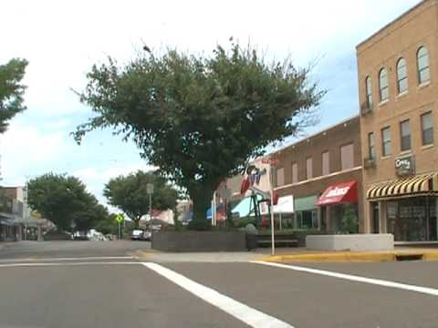 Driving on Main Street in Borger, Texas