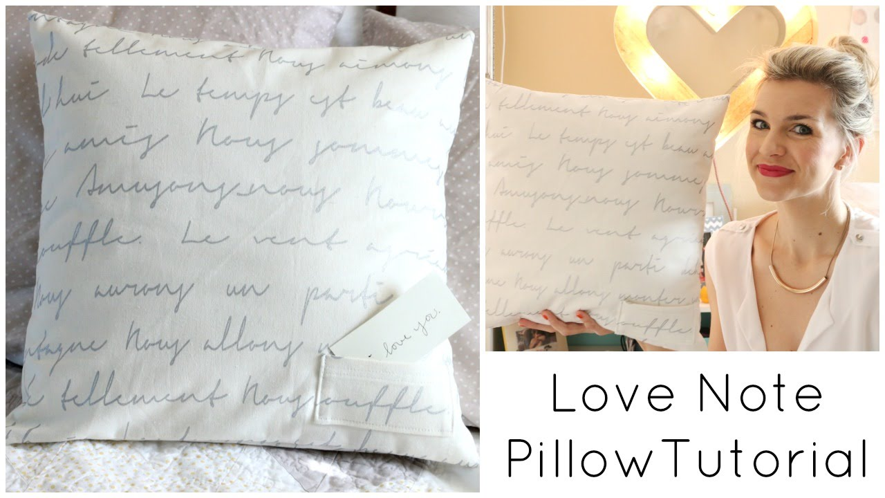 Easy Envelope Pillow Sewing Tutorial With Pocket And Embroidery  Youtube