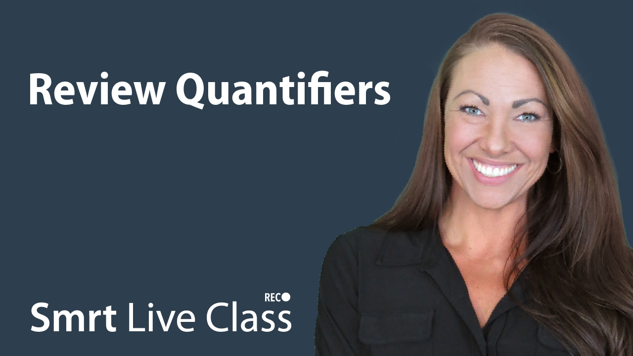Review Quantifiers - Pre-Intermediate English with Abby #37