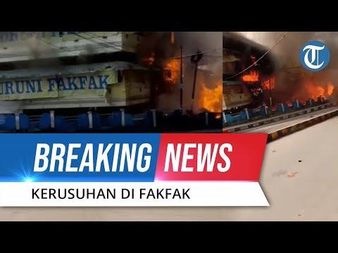 BREAKING NEWS! Unjuk Rasa di Fakfak Berlangsung Rusuh, Pasar Dibakar Massa