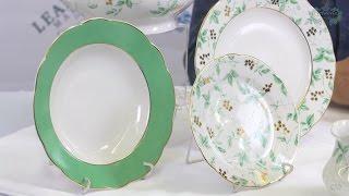Посуда из белого фарфора Мэри-Энн (Mary-Anne) Зеленые листья 1381 (Leander, Чехия)(, 2017-01-04T22:24:52.000Z)