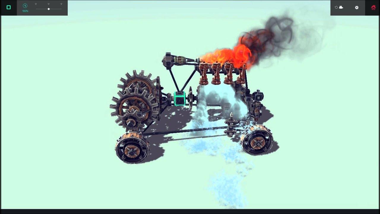 Besiege 4 Steam Turbine Automobile