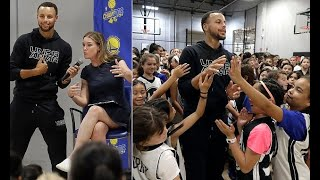 Breaking News -  Golden State Warriors star Steph Curry mobbed by young fans