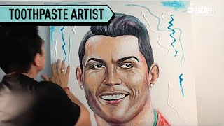 Tooth Paste Artist Makes Minty Fresh Celebrity Portraits | Localish