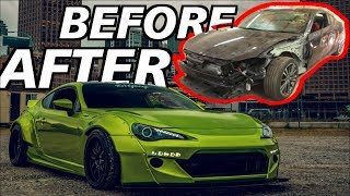 Building A Widebody FRS In 10 Mins! *Damaged to Show Car*