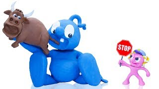 CLAY MIXER CAN'T STOP EATING -in- MOODY FOODY 💖 Play Doh Cartoons For Kids