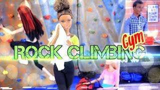 DIY - How to Make:  Doll Room in a Box: Rock Climbing Gym - Handmade - Craft