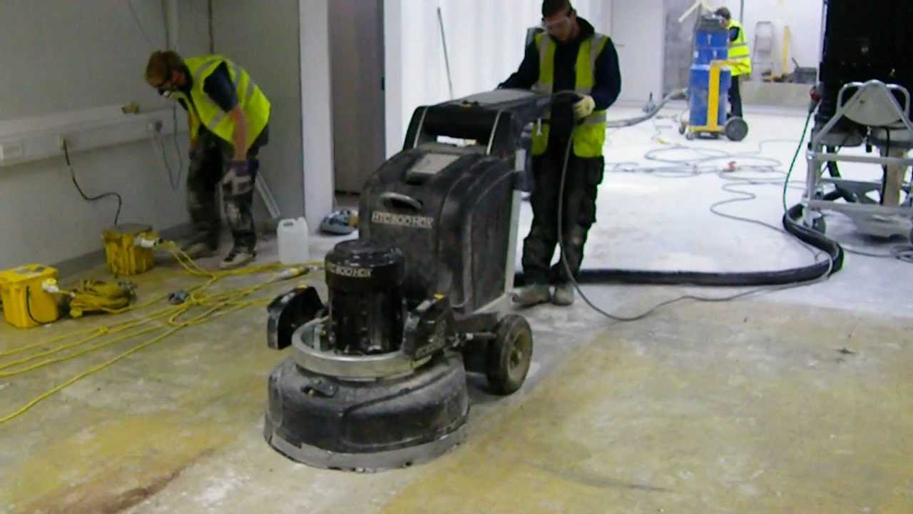 Diamond grinding floor preparation using htc grinder 1 for Floor grinding machine