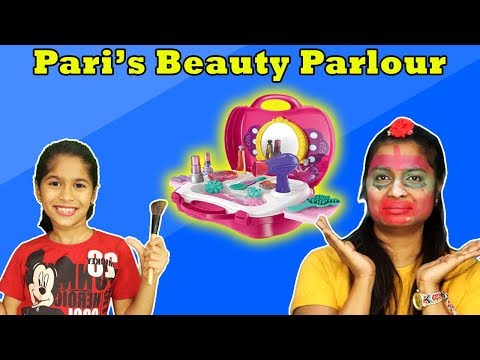 Pari's Magical Beauty Parlour | Kids Doing Makeup | Funny Video
