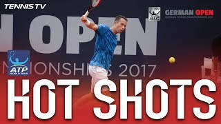 Kohlschreiber Chases Drop Shot For Hot Shot Hamburg 2017