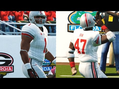 NCAA Football 14 Ultimate Team Gameplay - Ohio State Runs Up Score to Impress Playoff Committee