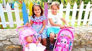 БебиБон Эмили и Литл Пони на прогулке - Видео для детей