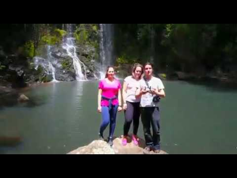 Cascata da Barca,Cascata de Vila Nova do Sul,RS,Borin,e a Galera na Cascata.