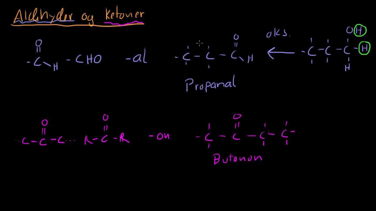 Aldehyder Og Ketoner Youtube