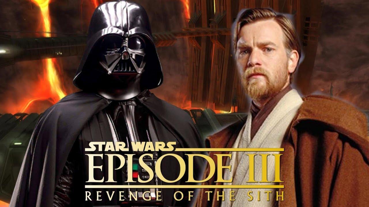 Star Wars Episode 3 Darth Vader Vs Obi Wan Youtube