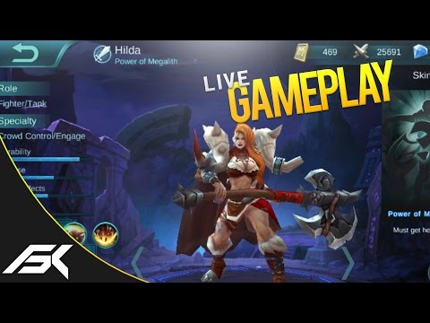 Mobile Legends: HILDA GAMEPLAY (NEW HERO)