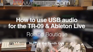 Download lagu How to use TR 09 USB audio with Ableton live MP3