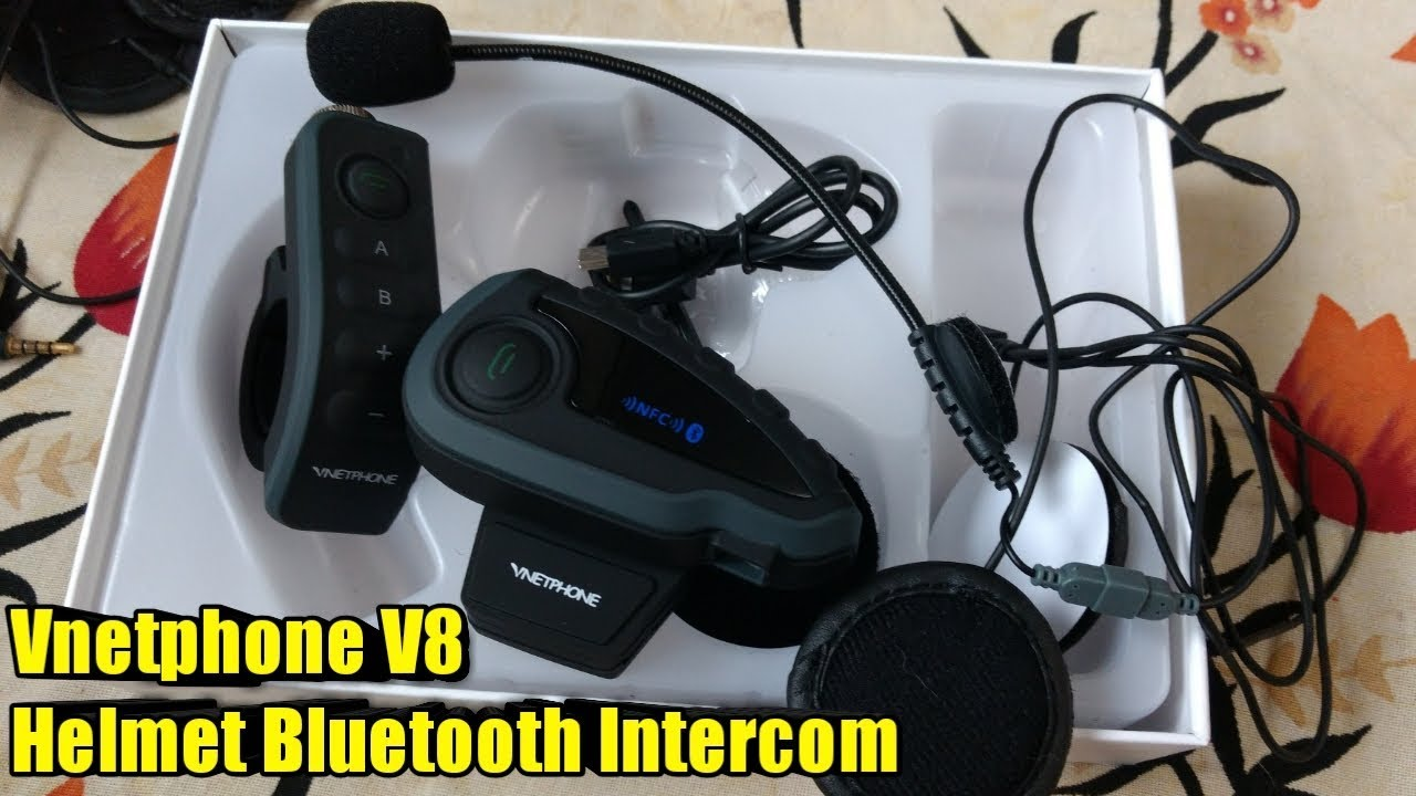91db104148d Vnetphone V8 Bluetooth Intercom with Remote Controller Feature | Don't buy  SENA before watching this
