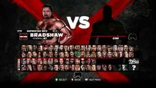 WWE 13 ROSTER+UNLOCKABLE/DLC CHARACTERS No mike tyson