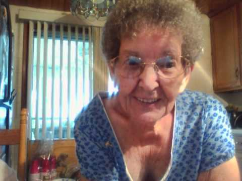 Old granny on webcam