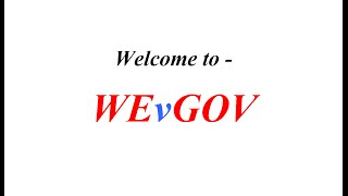 Welcome to WEvGOV.com!