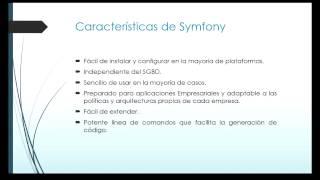 Symfony2 | Tutorial | Explicación Teorica