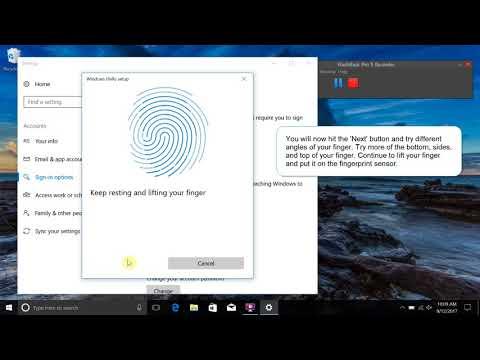 Windows Hello Fingerprint setup