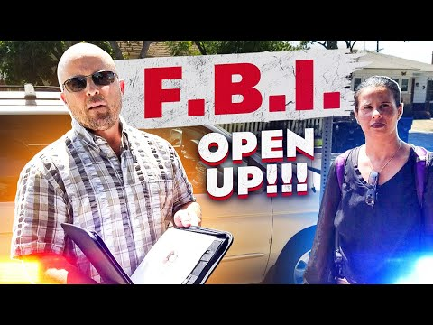 FBI VISIT TO MY HOUSE -  INTIMIDATION FAIL - FEDS DRIVE 200 MILES TO ASK ONE QUESTION