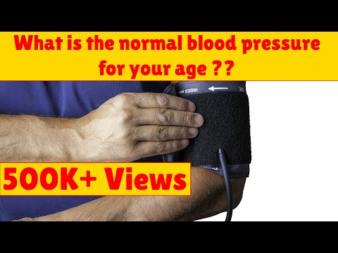 What is the normal blood pressure for your age ??