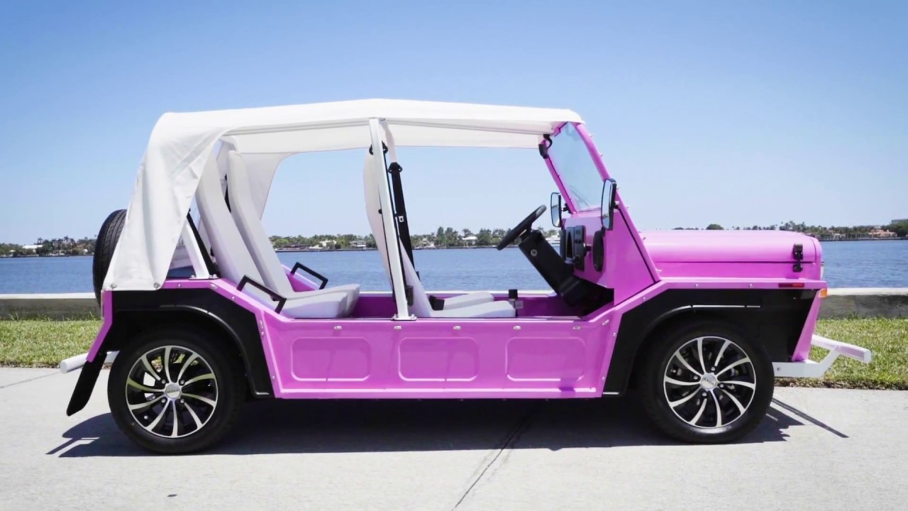 Moke America Pink Electric Car