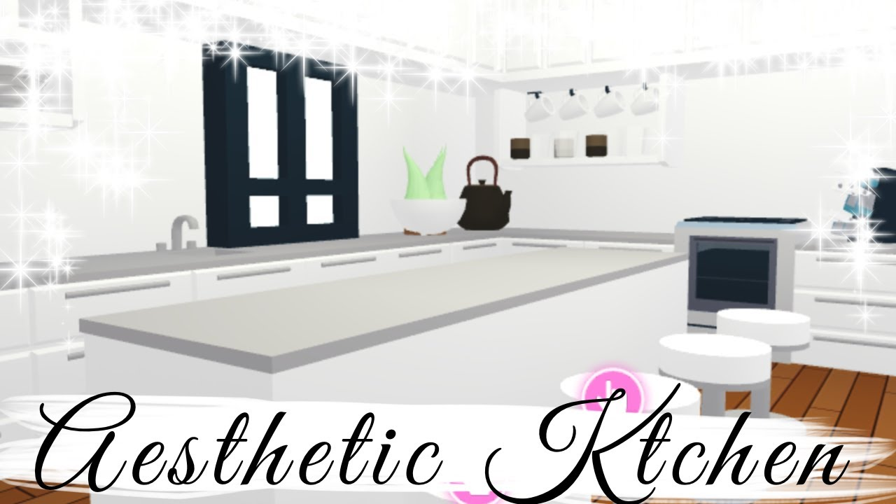 Aesthetic Adopt Me Futuristic House Speedbuild Pt 2 Kitchen Youtube
