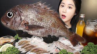 껍질도 맛있는 도미회 먹방 [Raw Fish] Real…