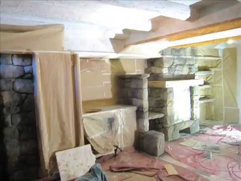 Bodega rustica con piedra artificial en bodegas for Decoracion bodegas particulares