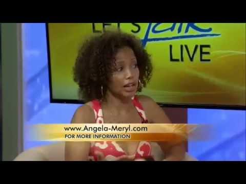 Angela Meryl onAugust 12 Let's Talk Live  with Hosts Melanie Hastings & Julie Wright