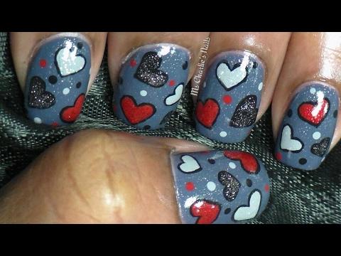 Goth Anti-Valentine Nail Art
