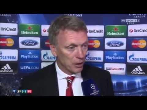 Manchester United 5 0 Bayer Leverkusen   David Moyes interview