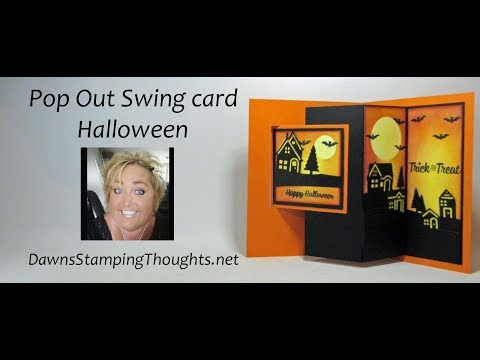 Pop Out Swing card Halloween
