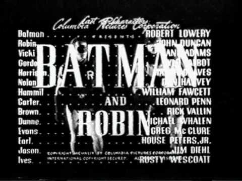 opening batman y robin serial 1949