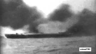 USS Hancock (CV-19) struck by a kamikaze - 7 April 1945